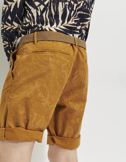 Men's camel Bermudas - IKKS Men